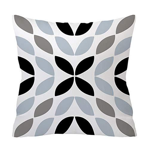 Guangcailun Funda de almohada geométrica de la piel de melocotón Square tercio fundas de colchón Habitación Sala Sofá Decoración