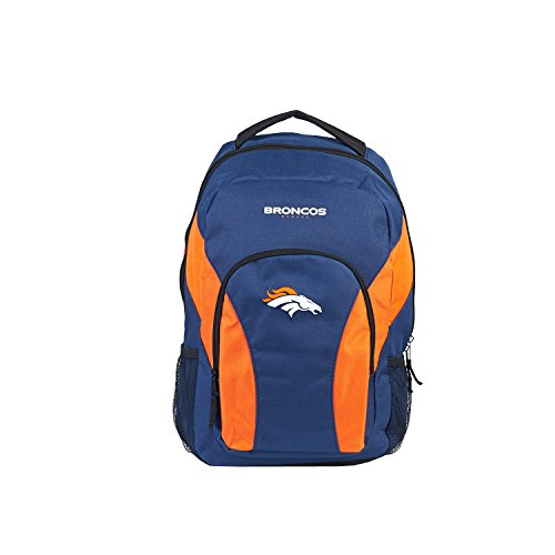 Northwest Backpack NFL Denver Broncos Draftday Rucksack, Marineblau/orange, Measures Height, 12 Length and 18-inches in Width