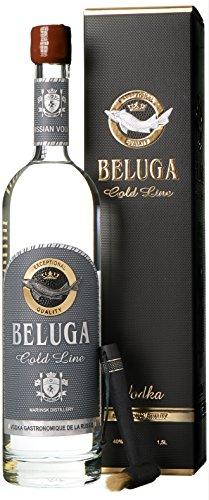 Beluga Gold Line Noble Russian Wodka mit Geschenkverpackung (1 x 1.5 l)