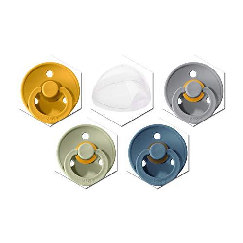 4 Bibs Schnuller Colour, Größe 1 (0-6 Monate) Starter-Set Neutrale Farben
