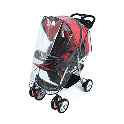 PULABO - 1 funda impermeable para silla de paseo para la lluvia, protector contra el viento y el polvo para cochecito de bebé, transparente, creativa y útil y exquisita mano de obra