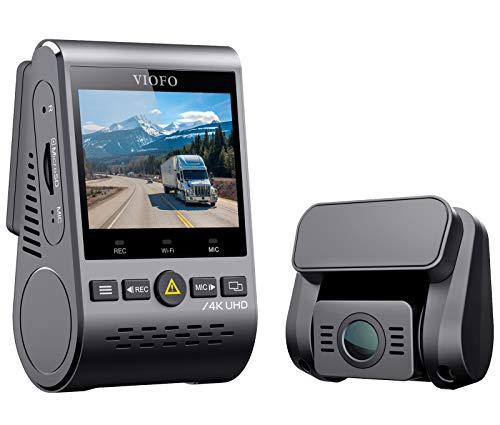 VIOFO A129 Pro Duo 4K Dual Dash Cam 3840 x 2160P Ultra HD 4K Front and 1080P Rear Car WiFi Dash Camera Sony 8MP Sensor GPS, Buffered Parking Mode, G-Sensor, Motion Detection, WDR, Loop Recording
