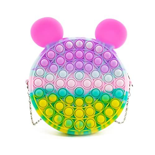 CaLeQi Pop it Push Bubble Bolsa de Hombro, Fidget Sensory Toy Bag Simple Dimple Toy Bag Sensory Bolsas de Hombro Sensoriales, Moda Creativa Diagonal Bolsa Juguetes de Mano