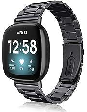 Fintie Armband compatibel met Fitbit Versa 3 / Fitbit Sense - horlogeband roestvrij staal metaal reserveband