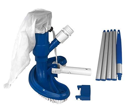 well2wellness® Poolsauger Venturisauger Halbmond inkl. Teleskopstange