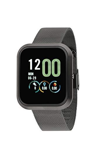 Reloj NOWLEY SMARTWATCH Unisex Pulsera MILANESA Acero Negro