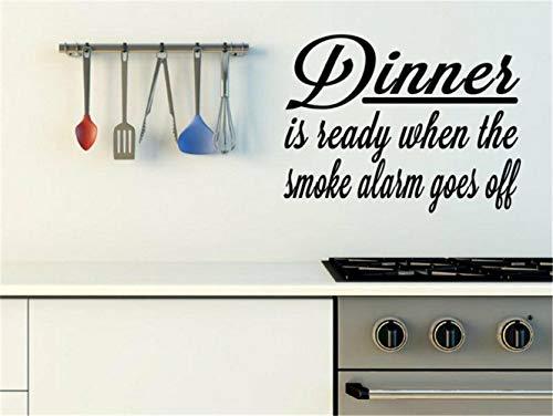 Wandtattoo Wohnzimmer Wandtattoo Schlafzimmer Das Abendessen ist fertig, wenn der Rauchmelder...