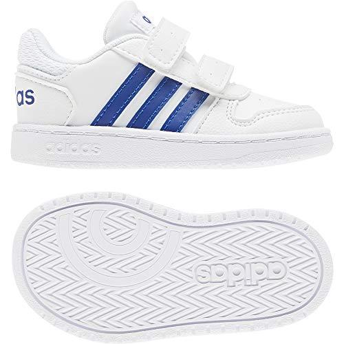 adidas Baby Jungen Hoops 2.0 CMF I Leichtathletik-Schuh, FTWR Weiss/Team Royal Blau/FTWR Weiss, 24 EU