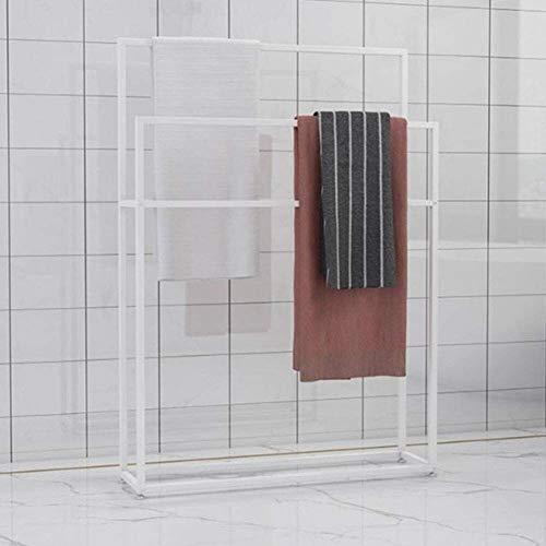 N\A Luck Titular toallero de pie de Metal Libres con 2 carriles, Planta Permanente toallero de baño, Ropa de Butler for Piscina, Playa, SPA, Efecto Decorativo (Color : White, Size : 75 * 20 * 110cm)