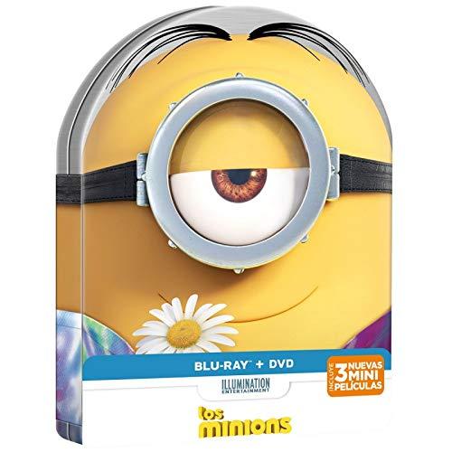 Los Minions DVD + Blu Ray Lata especial Redondeada