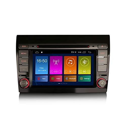 ERISIN 7 Pulgadas Android 10.0 Autoradio para FIAT Bravo Soporte GPS Sat Nav Bluetooth CarPlay WiFi 4G Dab + A2DP DVB-T RDS Enlace Espejo TPMS DSP Amplificador 2GB RAM + 16GB ROM