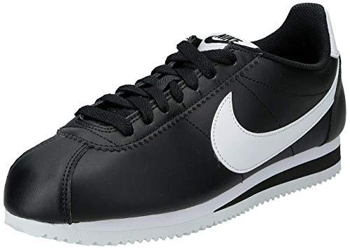 NIKE Classic Cortez Women's Sneakers, Black/White, 5.5 US