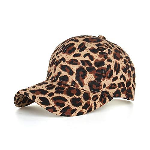 Gorra de béisbol Unisex de algodón con diseño de Leopardo clásico Sombrero para el Sol Gorra Ajustable de Gorra para Hombre Mujer Sombreros de Verano Gorras de Camionero de Hip Hop