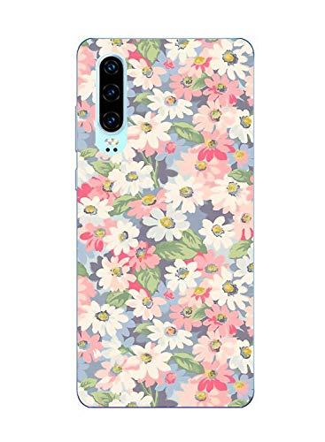 Suhctup Compatible con Huawei Honor 10 Lite Funda Flor de TPU Transparente Diseño de Flores Patrón Cárcasa Ultra Fina Suave con Dibujos Claro Silicona Antigolpes Proteccion Caso(A12)