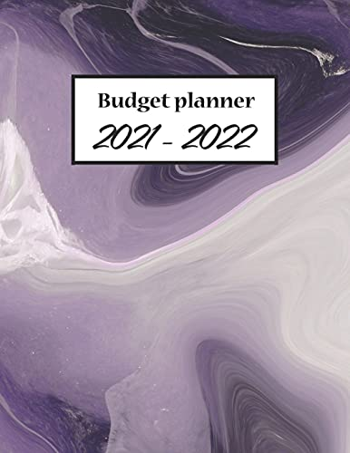 Budget Planner 2021-2022: Monthly Financial Planner and Bill Organizer, Smart Planner With Marble Cover For Men, Women, 8.5 x 11 120 Pages