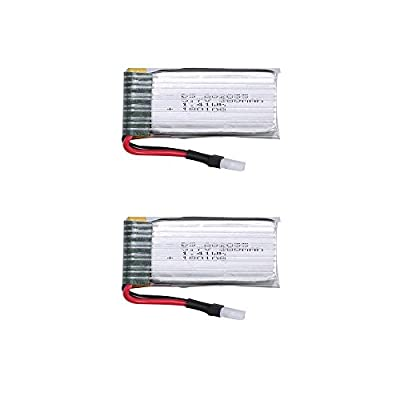 Holy Stone 2pcs 3.7V 450mAh Lipo Battery for the Controller / Transmitter of RC Quadcopter Drone HS230