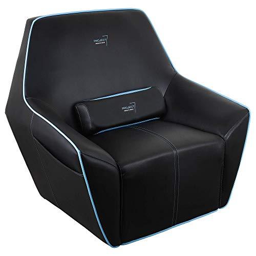 Aerocool P7CH2 - Sillón gaming (asiento de espuma de alta densidad, material transpirable, bolsillos laterales, diseño exagonal, acabado de fibra de carbono, triple costura), color negro