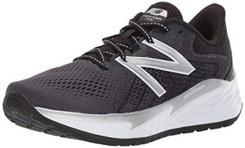New Balance Women's Fresh Foam Evare V1 Running Shoe, Black/Silver Metallic, 10.5 Wide