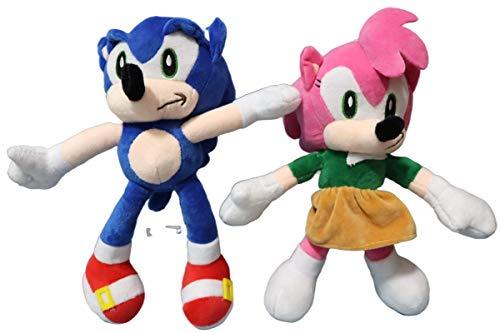 Sonic Toys 2pcs/lot Anime Muñeca Juguetes de Peluche Sonic El Erizo de Plata Juguetes Sonic Juguetes Lindos de Peluche Niños Regalos Bebé Niños Grandes Juguetes Suave para Niños