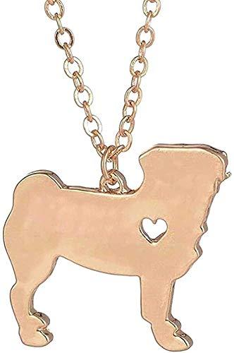 1 pieza Collar de perro Collar de mascota Raza de barro amasado Collar de oro rosa Collar de oro rosa grabado Collar de mascota para mujeres Hombres Amantes Collar de regalo Cadena colgante para mujer