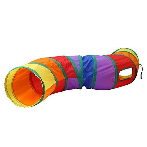 POPETPOP Gato Juguete Túnel Interactivo Plegable Plegable Emergente Jugar Tubo de Arrastre Patio de Juegos para Mascotas Gatos Cachorro Perro Pequeño