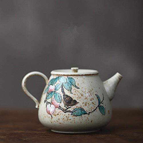 Tetera de porcelana de estilo japonés Tetera de gres hecha a mano para hacer tetera tetera pequeña pintada a mano estilo japonés