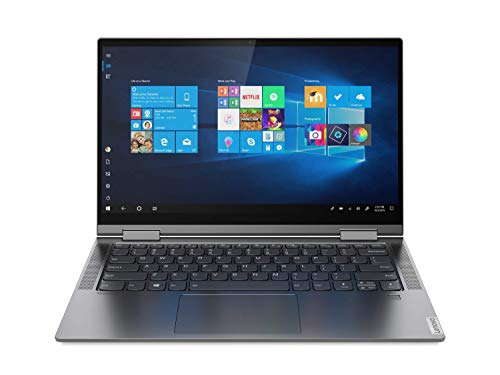 Lenovo Yoga C740 - Portátil convertible 14' FullHD (Intel Core i7-10510U, 8GB RAM, 512GB SSD, Intel UHD Graphics, Windows10), Gris - Teclado QWERTY español