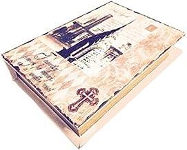 Livro Caixa Secreta Box Book Baú 007 Guardar Objetos Madeira + Mini Navio na Garrafa - 26cm