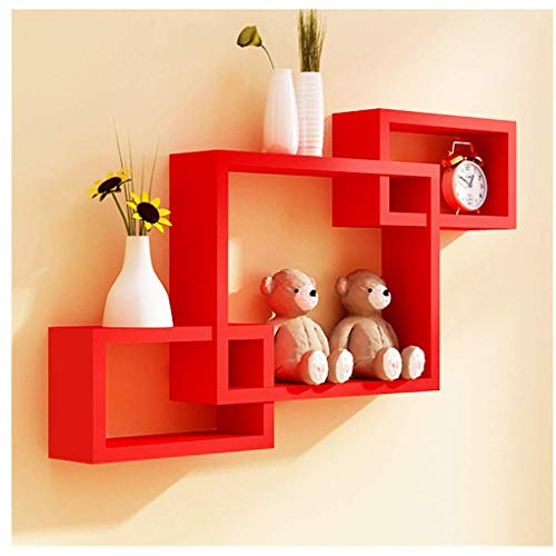Red Wall Shelves