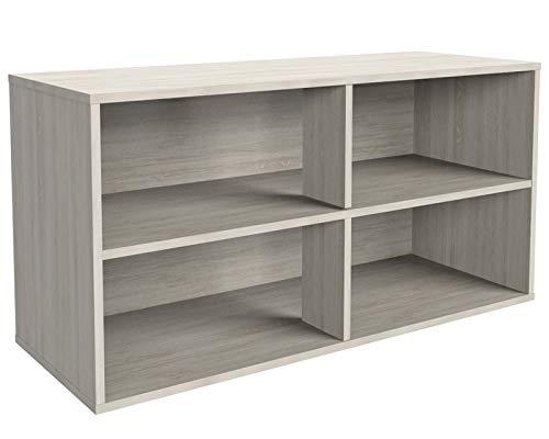 MOBI Zapatera 80 cm de madera Encino Rack Organizador Mueble