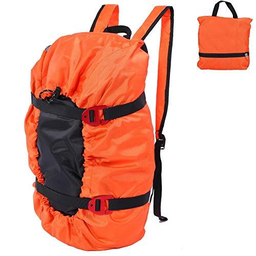 Dilwe Borsa da Arrampicata, Zaino da Spalla Pieghevole Alpinismo Impermeabile per Arrampicata Trekking (Arancione)