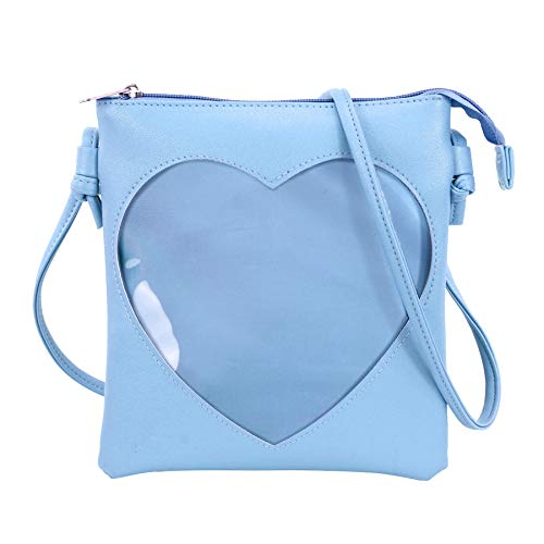 SteamedBun Ita Bag Crossbody for Women Girls Heart Shaped Transparent Window Small Ita Purse Shoulder bags