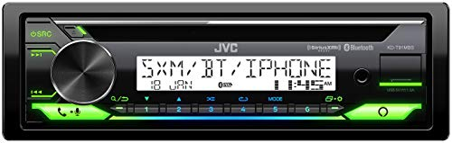 JVC KD-T91MBS Car & Marine Receiver with CD Bluetooth, USB, SiriusXM Ready, Amazon Alexa, Conformal Coated PCB