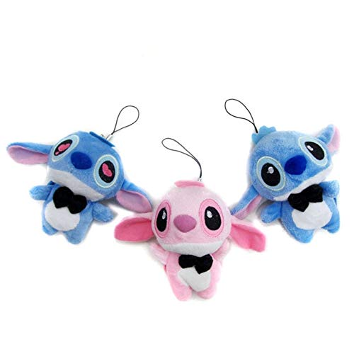 Aalborg125 Stuffed Animal 30pcs 11cm Small Angel Mini Stitch Plush Toy Bouquet Lilo Stich Toys Baby Wedding Flower Anime Baby Party Decorations Pendant-Mixed Color