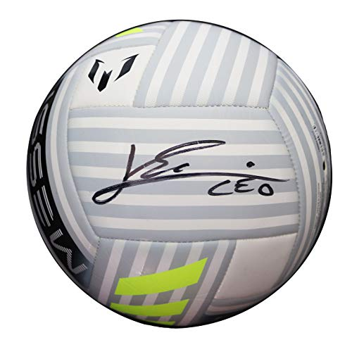 Lionel Messi Signed Autographed Messi Soccer Ball COA