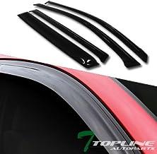 Topline Autopart Smoke Window Visors Deflector Vent Shade Guard 4 Pieces For 06-12 Toyota Rav4