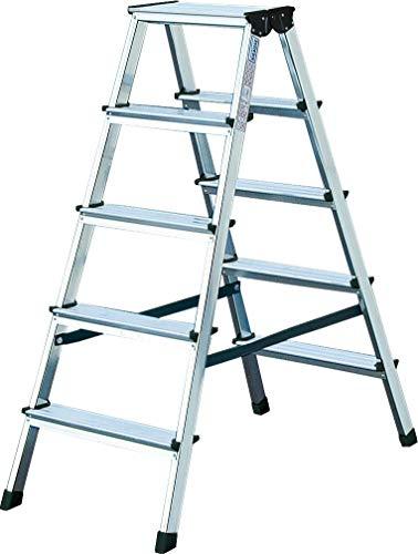 KRAUSE Doppelleiter Dopplo, 2 x 5 Stufen, 120342