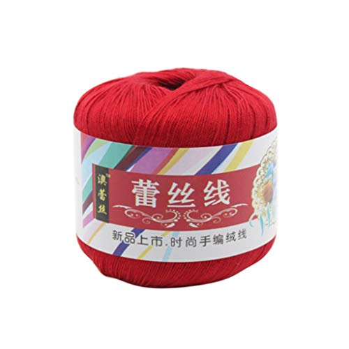 KJ-KUIJHFF Mercerized Cotton Cord, Fadengarn f¨¹r DIY Stickerei H?keln Stricken Spitze Schmuck Zubeh?r