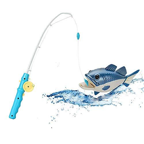OleOletOy Magnet Angelspiel + Badewanne Spielzeug zum aufziehen, 2 in 1 Lustige Badespielzeug ab 3 Jahre, Schwimmender Fisch mit Angelrute Wasserspiel