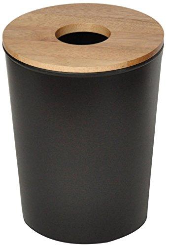 Opportunity 26b1506010070Ebonite Abfalleimer Kunststoff/Holz Schwarz 23x 23x 30cm
