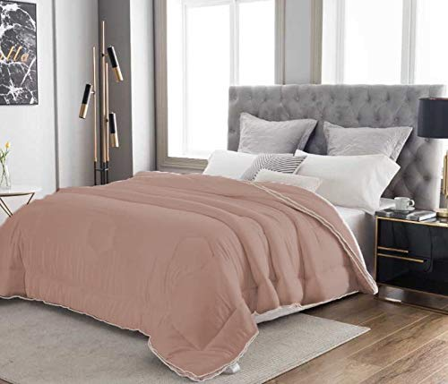 Cooling Eucalyptus Comforter Pine & River -Like a Cloud   Silky Soft, Skin-Friendly, Alternative Down   One-Piece Air-Fluff – Won't Bunch ([Taupe] Queen/Full, Bamboo-derived Rayon)