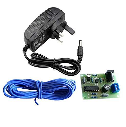 Cal descalcificador de Agua electrónico acondicionador DIY Kit de Montaje para Tubo de PVC de Cobre con 12V 2a Adaptador.