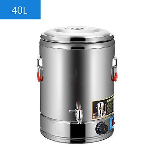 304 Edelstahl Elektrisch Heißwasserspender, kommerziell Portable Elektrisch Thermobehälter Getränkespender Kaffeekanne Glühweinkocher Kaffeebehälter für Buffet Party Büro, 30L/40L