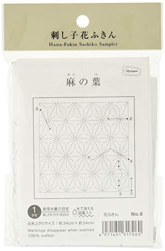 オリムパス製絲 花ふきん布パック伝統柄 麻の葉 (白) 6