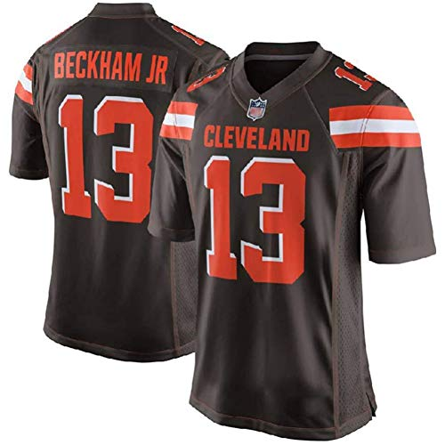 anking Camiseta De Rugby Odell Beckham Jr. # 13 Baker Mayfield # 6 Cleveland Brown Football Jersey, Unisex, De Manga Corta, Transpirable, Bordado, Edición Limitada, Negro,XL