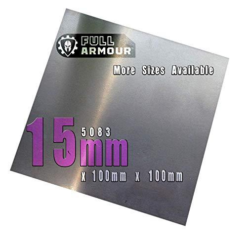 5083 - Placa de aluminio (15 mm), 100mm x 100mm (10cm x...