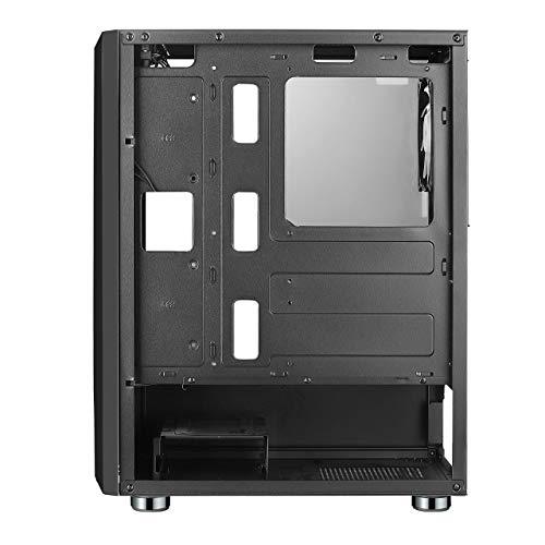 CHIPTRONEX MX4 RGB Mid Tower Cabinet RGB Strip USB 3.0 Tempered Glass Preinstalled one 120mm Automatic RGB Fan
