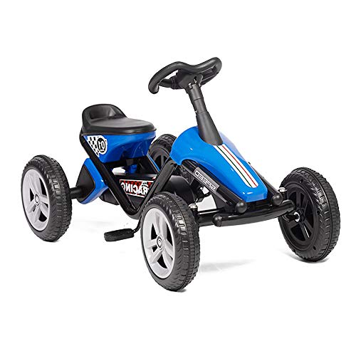 LONABR Pedal Go Kart Ride on Toys 4 Wheel Kids' Pedal Car Racer with EVA Rubber Tires for Outdoor...