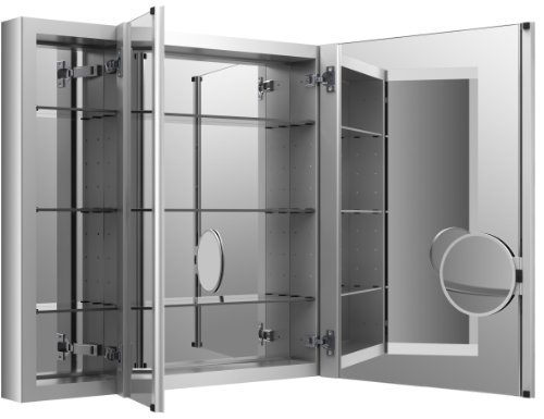 Medicine Cabinet by KOHLER, Bathroom Medicine Cabinet with Mirror, Verdera Collection, 40 Inch X 30 Inch, Slow Close Magnifying Mirror, K-99011-NA