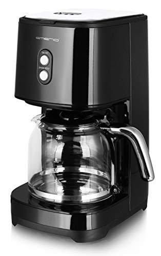 Emerio CME-121593 Filter Kaffeemaschine mit AROMA BOOST für den besonderen Geschmack, entnehmbarer Dauerfilter, RETRO Schwarz